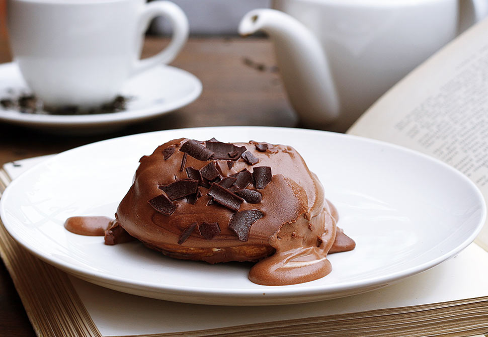 New cupcake with liquid chocolate in our menu